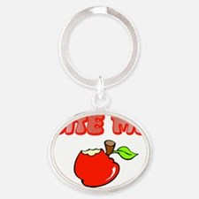 Bite_me_th Oval Keychain