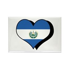 I Love El Salvador Rectangle Magnet (10 pack)