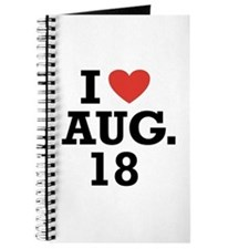 I Heart August 18 Journal