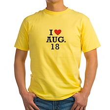 I Heart August 18 T