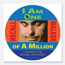 """One of a Million button Square Car Magnet 3"""" x 3"""""""