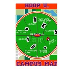 HU Campus Map Print.gif Postcards (Package of 8)