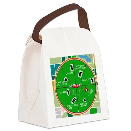 HU Campus Map Print.gif Canvas Lunch Bag