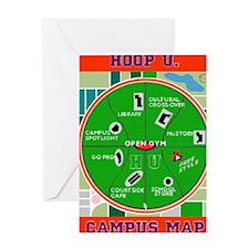 HU Campus Map Print.gif Greeting Card