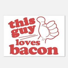This Guy Loves Bacon Postcards (Package of 8)