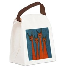 candy corn blue Canvas Lunch Bag