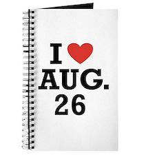 I Heart August 26 Journal