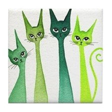 green dixie Tile Coaster
