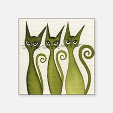 "green merrimack Square Sticker 3"" x 3"""