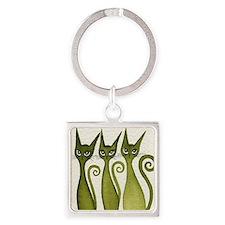 green merrimack Square Keychain