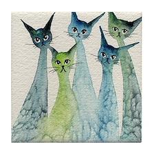 blue green lakeland Tile Coaster