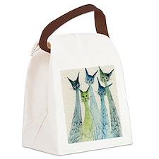 blue green lakeland Canvas Lunch Bag