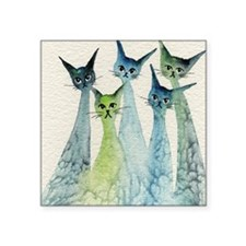 "blue green lakeland Square Sticker 3"" x 3"""