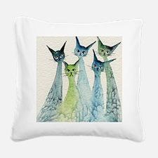 blue green lakeland Square Canvas Pillow