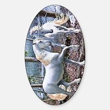 UnicornReuionKINDLEslv  Sticker (Oval)