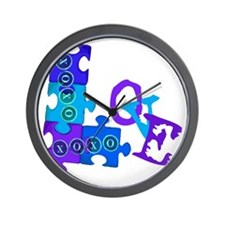 love_puzzle_piece_4 Wall Clock