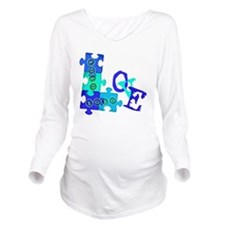 love_puzzle_piece_6 Long Sleeve Maternity T-Shirt