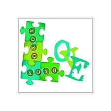 """love_puzzle_piece_3 Square Sticker 3"""" x 3"""""""