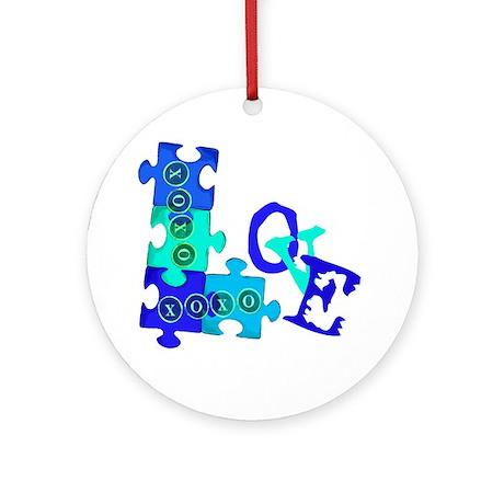 love_puzzle_piece_6 Round Ornament
