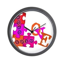 love_puzzle_piece_1 Wall Clock