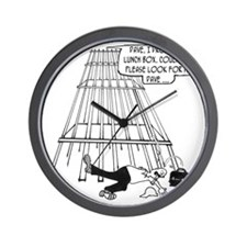 3696_construction_cartoon_ES Wall Clock