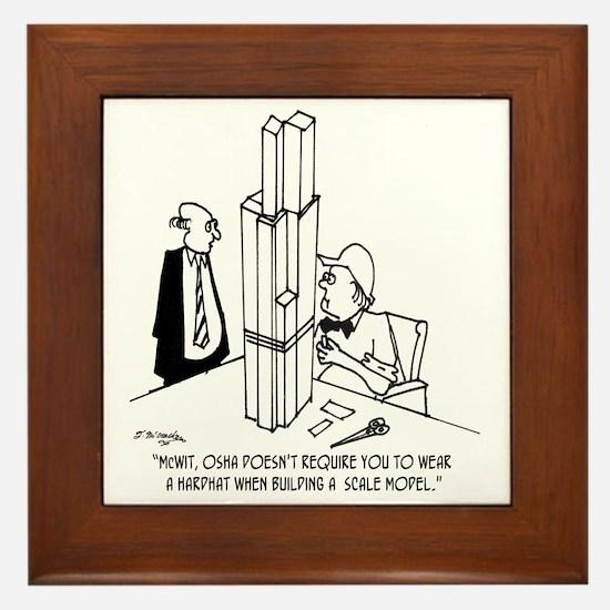 3694_OSHA_cartoon Framed Tile