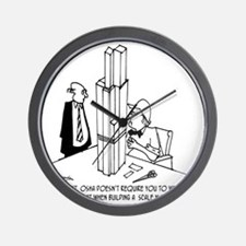 3694_OSHA_cartoon Wall Clock