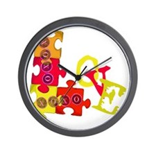 love_puzzle_piece_2 Wall Clock