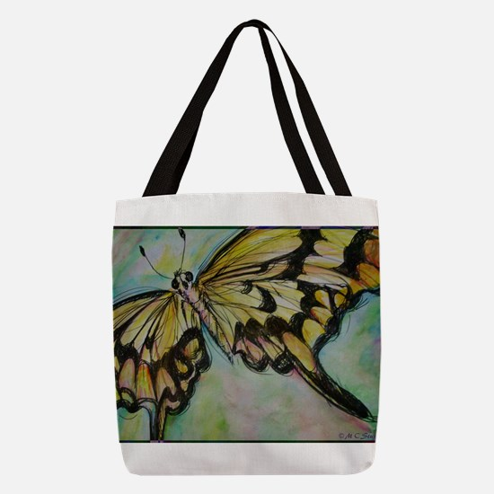 Butterfly, nature art! Polyester Tote Bag