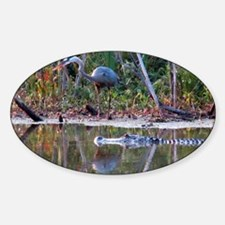 Great Blue Heron and Gator Decal