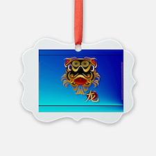 Wall Peel  Black n Gold Chinese D Ornament