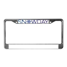 snowday blue License Plate Frame