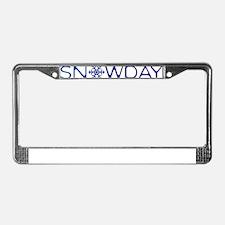 snowday blue License Plate Frame