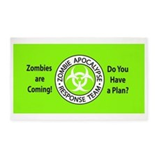ZombiesComingGreen 3'x5' Area Rug