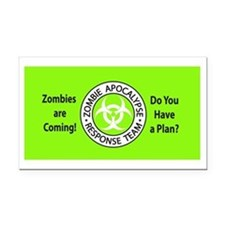 ZombiesComingGreen Rectangle Car Magnet