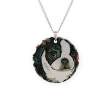 boston pup squared Necklace