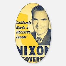 ART Nixon for Governor Sticker (Oval)
