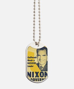 ART Nixon for Governor Dog Tags