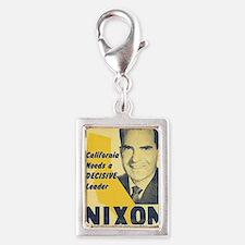 ART Nixon for Governor Silver Portrait Charm