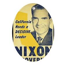 ART Nixon for Governor Oval Ornament