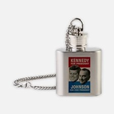 ART JFK and LBJ 60 Flask Necklace