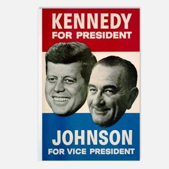 ART JFK and LBJ 60 Postcards (Package of 8)