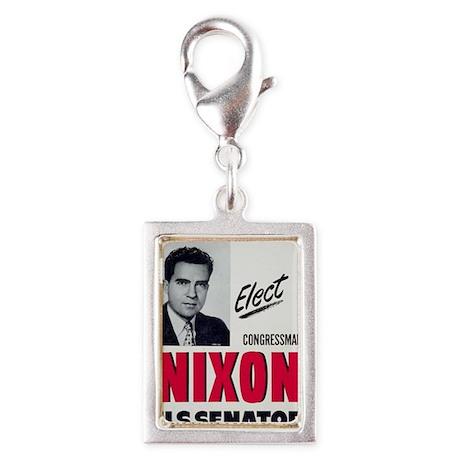 ART Nixon for Senate Silver Portrait Charm