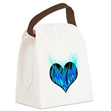 heart_on_for_you_flames_1 Canvas Lunch Bag