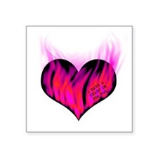 """heart_on_for_you_3 Square Sticker 3"""" x 3"""""""