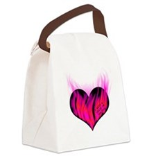 heart_on_for_you_3 Canvas Lunch Bag