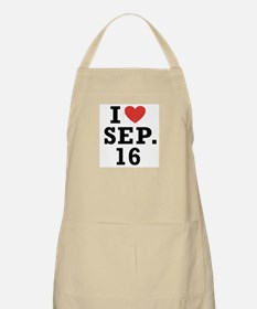 I Heart September 16 BBQ Apron