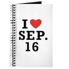 I Heart September 16 Journal