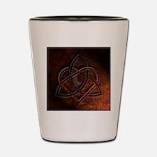 Celtic Knotwork Rust Valentine Heart Shot Glass