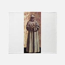 Saint Benedict - Piero della Francesca Throw Blank